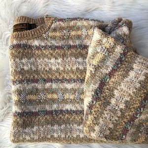 Vintage Eddie Bauer chunky knit sweater grandpa lg